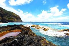 Вулканический ландшафт Азорских островов стоковое изображение