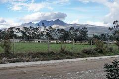 Вулканический ландшафт в Котопакси стоковые изображения