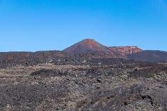 Вулканический ландшафт с вулканом Teneguia, островом Palma Ла, Canaries, Испанией стоковые изображения