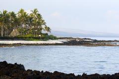 вулканическое пляжа гаваиское Стоковые Фото