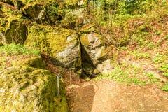 Вулканическое Eifel на Roth, Gerolstein Германия Стоковые Изображения
