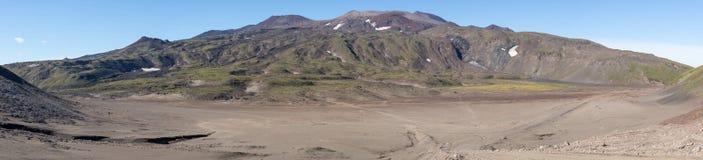 Вулканы Камчатки Gorely Ридж Стоковая Фотография RF