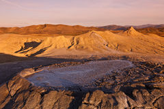 вулканы Румынии грязи buzau стоковая фотография rf