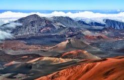 вулкан Гавайских островов maui haleakala Стоковые Фотографии RF