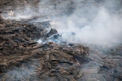 Вулкан депрессии Danakil и эля Erte Стоковая Фотография