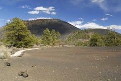 вулкан захода солнца ландшафта кратера Аризоны Стоковое Изображение