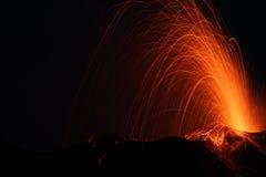 вулкан извержения Стоковые Изображения