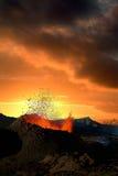 вулкан извержения стоковые фотографии rf