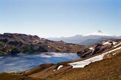 вулкан озера Чили стоковое фото rf
