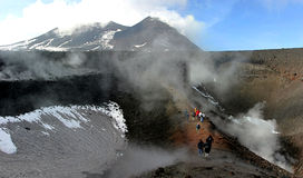 вулкан панорамы etna Стоковые Изображения RF