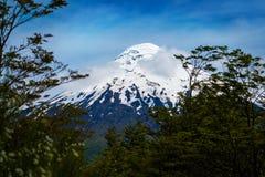 Вулкан покрытый снегом Osorno Стоковое Изображение