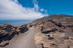 Вулкан Сан Антонио в острове Palma Ла, Канарских островах Стоковая Фотография