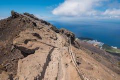 Вулкан Сан Антонио в острове Palma Ла, Канарских островах Стоковые Изображения