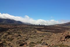 Вулкан Тенерифе Roques de Garcia и Canadas de Teide, Канарские острова Стоковые Фото