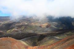 Вулкан Этна, Сицилия, Италия Стоковое Изображение RF