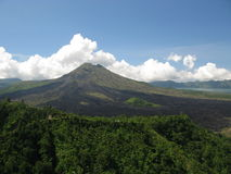 вулкан bali mt agung стоковое фото rf