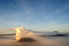 вулкан bromo стоковое изображение