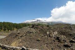 вулкан etna стоковая фотография rf