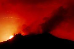 вулкан etna стоковое фото rf