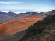 вулкан haleakala Стоковое Фото