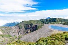 Вулкан Irazu - озеро кратера - Коста-Рика Стоковое Фото