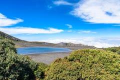 Вулкан Irazu - озеро кратера - Коста-Рика Стоковые Фотографии RF