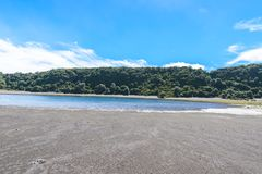 Вулкан Irazu - озеро кратера - Коста-Рика Стоковое Изображение