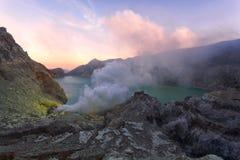 Вулкан Kawah Ijen East Java, Индонезии Стоковые Фото