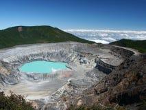 вулкан poas кратера стоковые изображения rf