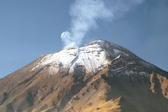 вулкан popocatepetl стоковая фотография