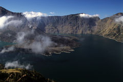 вулкан rinjani Индонесии стоковое фото rf