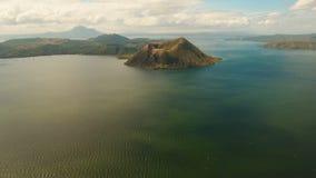 Вулкан Taal, Tagaytay, Филиппины сток-видео