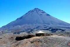 вулкан verde острова fogo плащи-накидк Африки Стоковая Фотография