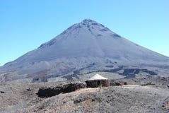 вулкан verde fogo кратера cabo Африки Стоковое Изображение