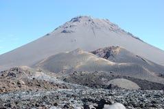 вулкан verde fogo кратера capo Африки Стоковое Изображение