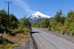 вулкан villarica Чили стоковое изображение rf