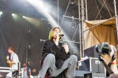Вульгарное Молли выполняет в реальном маштабе времени на фестивале выходных атласа Киев, Украин Стоковое Фото