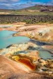 Вулканическая гора вполне красочных минералов, Исландии Стоковые Фото