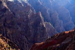 Вулканическая горная цепь на острове Palma Ла Стоковое фото RF
