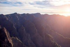 Вулканическая горная цепь на острове Palma Ла Стоковые Изображения