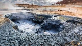 Вулканическая местность Namafjall, Исландия Стоковые Изображения RF