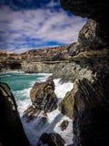 Вулканическая пещера Стоковое фото RF