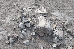 Вулканическая серая, который замерли лава Стоковые Фото