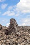 Вулканические камни в Timanfaya, Лансароте Стоковая Фотография RF