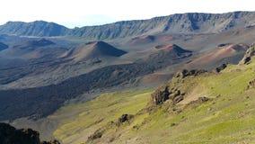 Вулканические конусы гари на Haleakala Стоковое Изображение