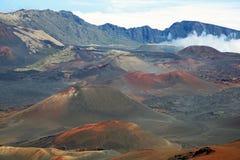 Вулканические конусы гари Стоковая Фотография