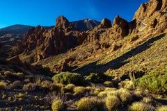 Вулканический ландшафт лавы на Teide Стоковая Фотография