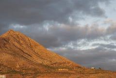 Вулканический ландшафт в Канарских островах Стоковые Изображения RF