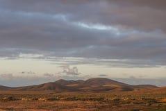 Вулканический ландшафт в Канарских островах Стоковая Фотография