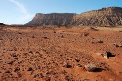 Вулканический ландшафт в кратере Рэймоне Стоковая Фотография RF